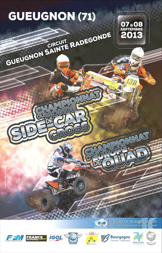 affiche mondial side car gueugnon 2013