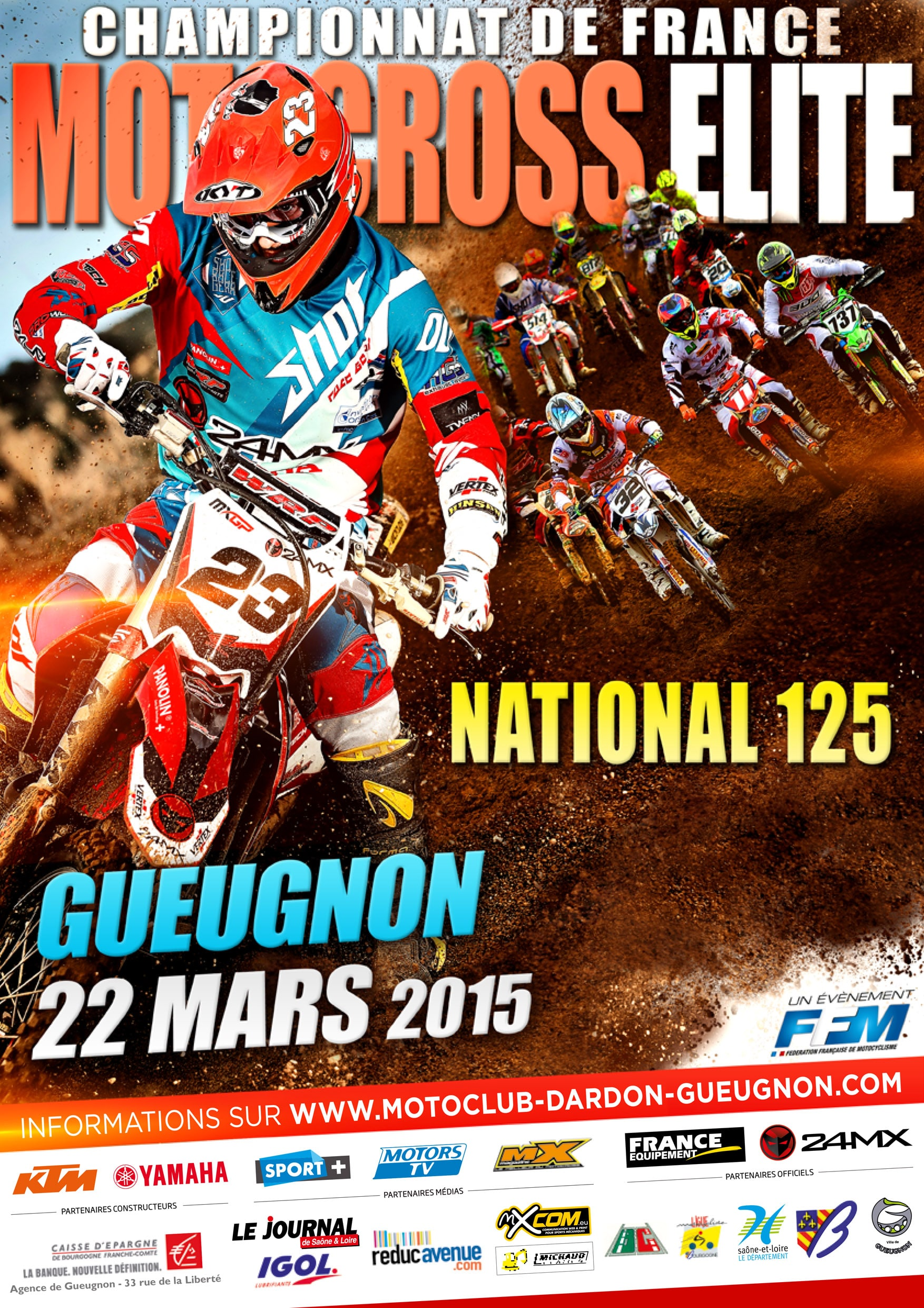 affiche motocross elite 2015 dardon gueugnon