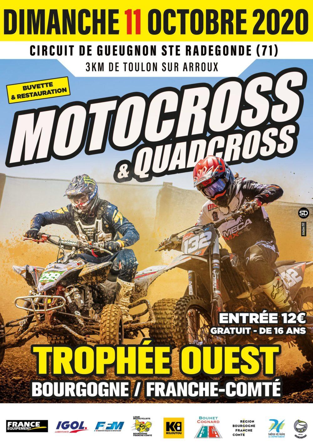 Trophée Bourgogne Franche Comté Moto Cross et Quad 11 Octobre 2020