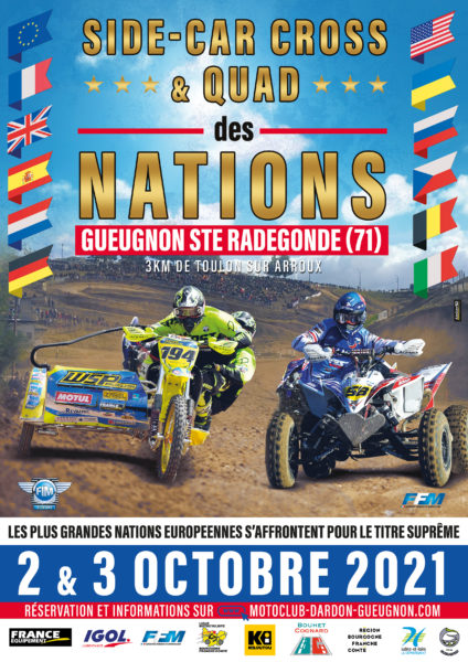 Affiches Nations Side-car & Quad 2021 MCDG